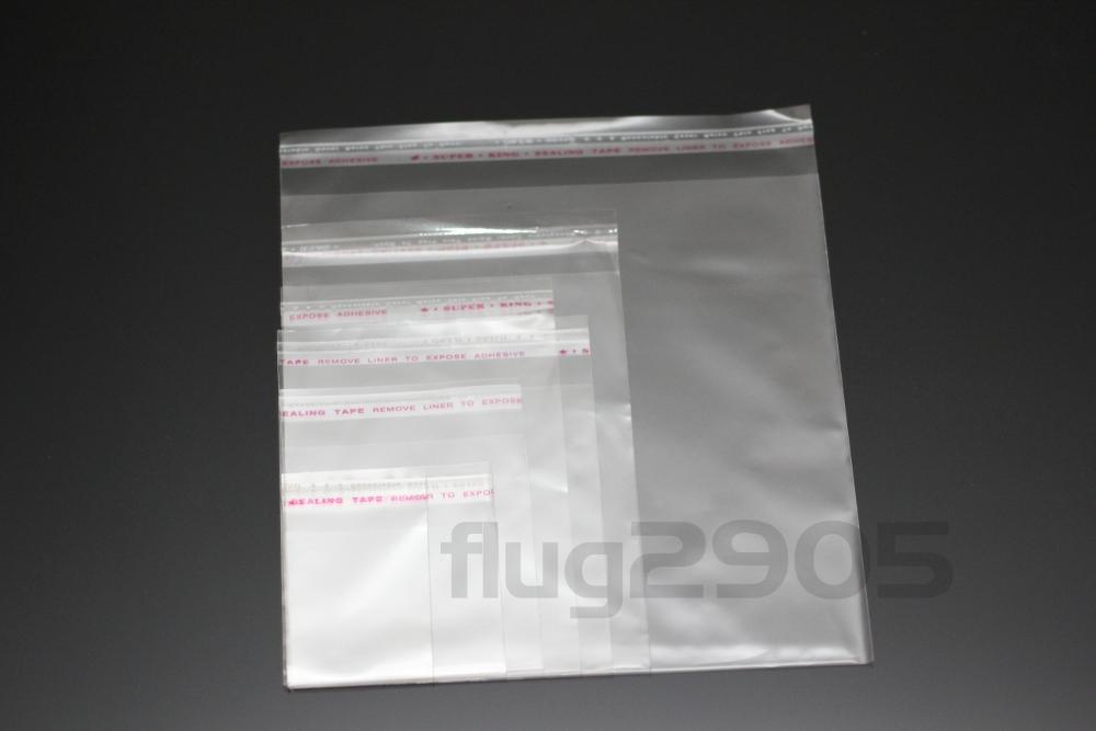 folienbeutel flach beutel adh sionsverschluss selbstklebend transparent pp t ten ebay. Black Bedroom Furniture Sets. Home Design Ideas