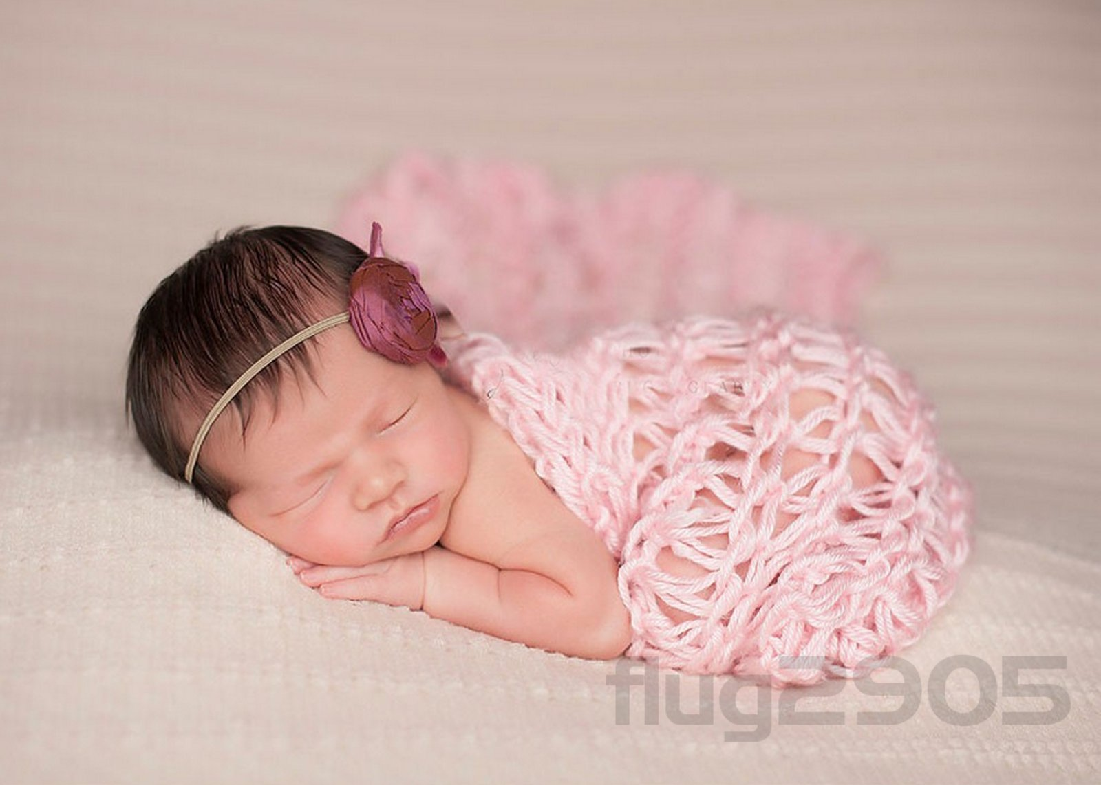 baby wrap grobstrick decke rosa fotoshooting newborn neugeborenen fotografie ebay. Black Bedroom Furniture Sets. Home Design Ideas